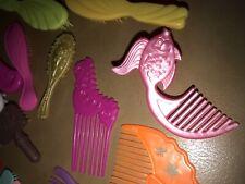 Lot of 39 Misc doll Hair Brushes Combs 1 1987 Barbie Seahorse Bratz Mattel etc