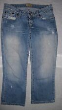 Womens BKE Capri Jeans Light Washed Denim Distressed Sz 26