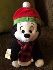 "Lot Of 2 Disney Pinochio Figaro 8"" Kitty Cat Stuffed Plush Animal Rare Winter"