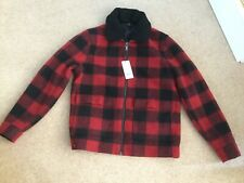Burton Menswear Red Checked Zipped Jacket - New With Tags- Size Medium