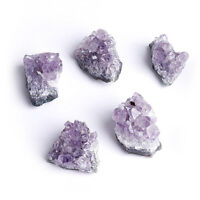 Natural Purple Amethyst Crystal Cluster Rough Stone Healing Mineral Craft Decor