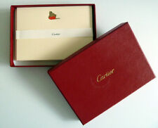 BOXCARTIER STATIONARY7 Notes &6 Envelopes GOLD PANTHER on RED BOX Cards