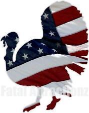 American Flag Wild Turkey Vinyl Sticker Decal Hunting Bow Hunting Gobbler Usa