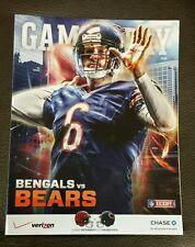 CHICAGO BEARS vs CINCINNATI BENGALS GAME PROGRAM 9/8/13 JAY CUTLER #6 ON COVER