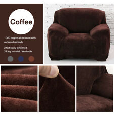 1-4 Seat Stretch Spandex Chair Sofa Couch Cover Elastic Slipcover Protector US
