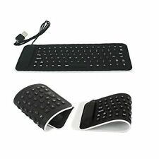 Del Portable USB Mini Flexible Silicone PC Keyboard Foldable for Laptop
