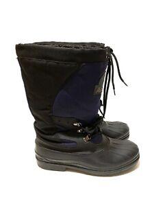 Arctic Cat Snowmobile Waterproof Winter Boots Black/Blue Mens Size 7