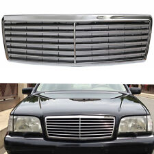 For Sedan Benz W140 S Class 94-99 Black Chrome Front Hood Bumper Grill Grille