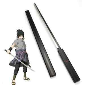 "39"" Anime Naruto Sasuke Kusanagi Grass Cutter Sword Wood Blade for Cosplay Props"