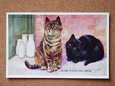 R&L Postcard: M Gear, Mabel Gear Cat Series, Valentine's 1878 Tabby & Black