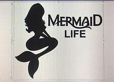 Mermaid Life Decal Sticker Ariel The Little Mermaid Car Laptop Tablet 5 Inch