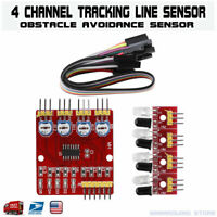 4-Channel Infrared IR Line Tracking Detection Sensor Module Smart Car Arduino