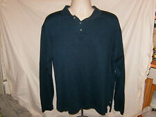 NWOT NEW Tommy Bahama Polo Shirt Large Green Long Sleeve