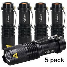 KAKOM 7w 300lm Mini Cree Led Flashlight Torch Adjustable Focus Zoomable Light