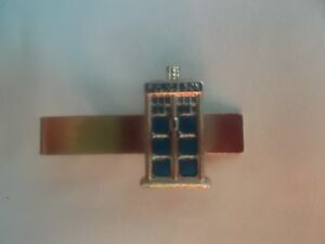 T546 Vintage Style Tardis Blue Police Box Dr WHO Tie Clip Bar Pin Gift for him*