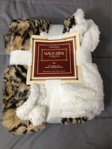 NorthPoint Wild Side Throw 100% Polyester Reversible 50 by 60 Inches