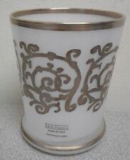 Arte Italica whiteTumbler w/Silver Accents NEW IN BOX
