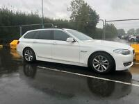2013 BMW 5 Series 530D Touring WHITE 3L DIESEL. Estate Automatic, ONE OWNER. F11