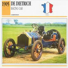 1905 DE DIETRICH Racing Classic Car Photo/Info Maxi Card