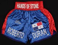 Roberto Duran Signed Boxing Trunks (Beckett COA)