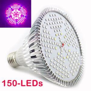 150W Full Spectrum E27 LED Plant Grow Light Hydroponics Growing Lamp Bulb Indoor