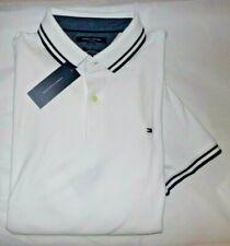 NWT MENS Tommy Hilfiger S/S Polo Shirt~SLIM FIT~WHITE~XL