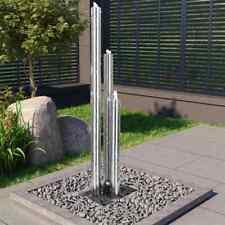 vidaXL Gartenbrunnen 48x34x153cm Edelstahl Säulenbrunnen Springbrunnen Brunnen
