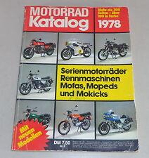 Motorrad Katalog Nr. 8 Motor Presse Verlag Stuttgart Stand 08/1977