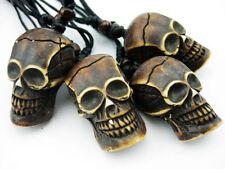 horror skull pendant biker necklace 12 pcs Simulation heavy carving Halloween