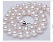 "HUGE NATURAL 18""12-13MM SOUTH SEA GENUINE WHITE PEARL NECKLACE"