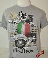 T-SHIRT ITALIA maglia VESPA bandiera simpatica Spiritosa IDEA REGALO uomo-donna