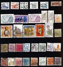 3T4 BRESIL 34 timbres oblitérés  usages courants