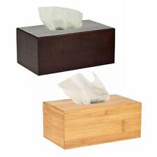 Alpine Industries Bamboo Rectangular Tissue Dispenser Holder Tissue Box Cover