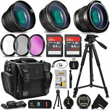 Xtech Kit for Canon EOS 2000D - Deluxe 28 Piece w/ 3 Lenses + 128GB Mmry +MORE