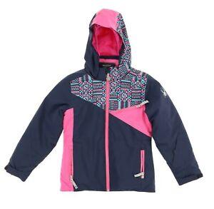 Spyder Girls Kids Project Jacket Frontier/Baltic Geo Print / Raspberry size 10Y