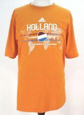 Adidas 2010 South Africa Holland FIFA World Cup Soccer Orange TShirt Mens Large