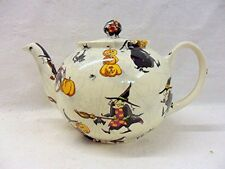 Hubble bubble witches design 2 cup teapot by Heron Cross Pottery
