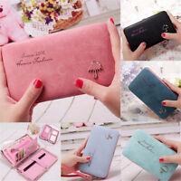 Women Fashion Leather Wallet Purse Long Handbag Clutch Box Phone Bag Card Holder
