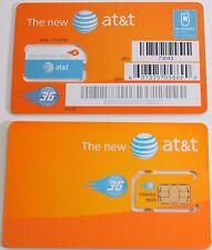 New At&T Prepaid/Postpaid 3G Sim Card. At&T Sku 73043 3G Unactivated