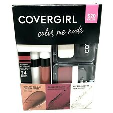 Covergirl Color Me Nude Makeup Set Lip Color Eye Enhancer Cheeker