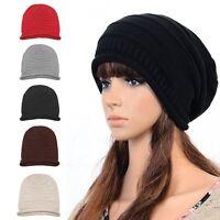 Women's Men's Hat Unisex Warm Winter Knit Crochet Cap Hip-hop Baggy Beanie Hats