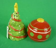 RUSS New Christmas Tree & Ornament Salt 'n' Pepper Shaker Boxed Collectible Gift