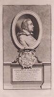 1723 Van der Aa Ritratto Arcivescovo Federico Borromeo Federicus Borromaeus