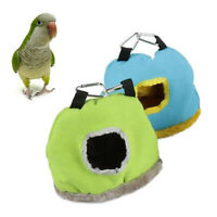 Bird Parrot Plush Warm House Hanging Nest Bed Hammock Cave Cage Pet Supplies New