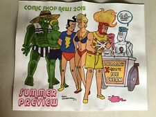 COMIC SHOP NEWS SUMMER PREVIEW 2019 WRAPAROUND FRED HEMBECK COVER PROMO