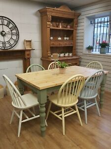 Free Delivery! Set Of Brand New Farmhouse Kitchen Dining Table and 6 Chairs