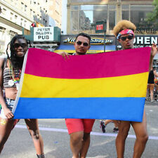 3x5 Foot Rainbow Lgbt Polyester Flag Gay Lesbian Omnisexual Banner Pansexual