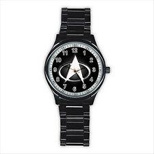 NEW HOT STAR TREK BADGE Stainless Steel Round Wrist Watch Gift D01