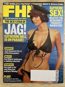 Catherine Bell FHM July 2002 Signed Magazine
