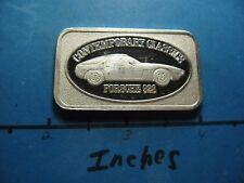 PORSCHE 928 CONTINENTAL COINS 999 SILVER BAR ENGRAVEABLE 1983 OLD RARE COOL #B
